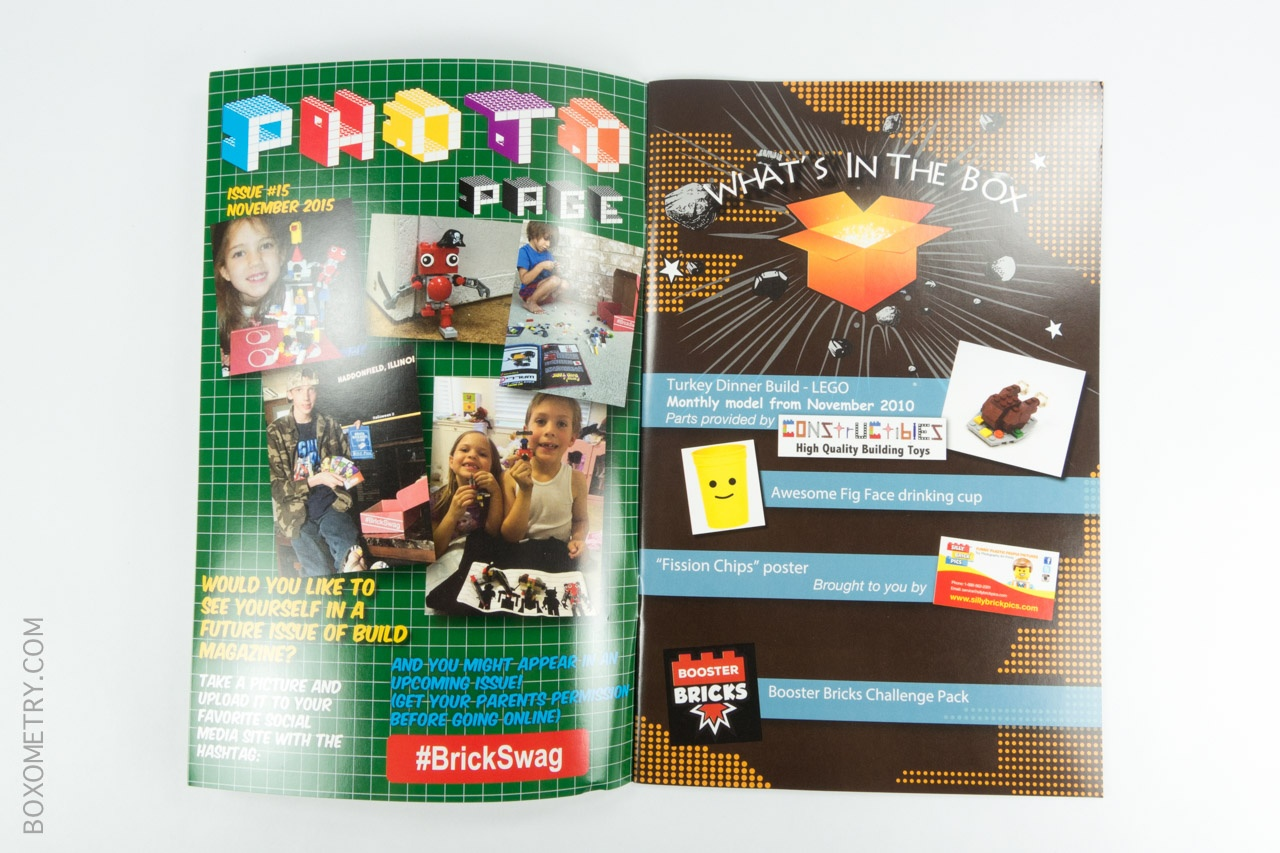 Boxometry BrickSwag November 2015 Review - Booklet