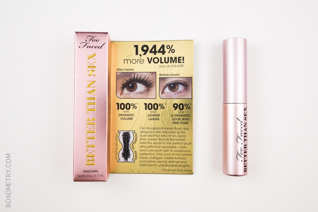 Boxometry GlossyBox June 2015 Review - Too Faced Cosmetics Better Than Sex Mascara