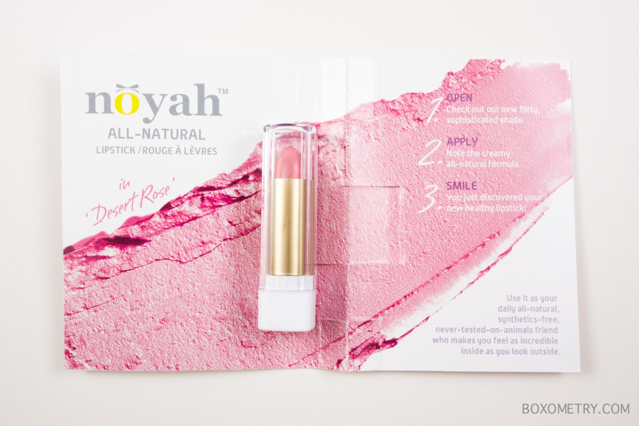 Boxometry ipsy July 2015 Review - noyah All-Natural Lipstick