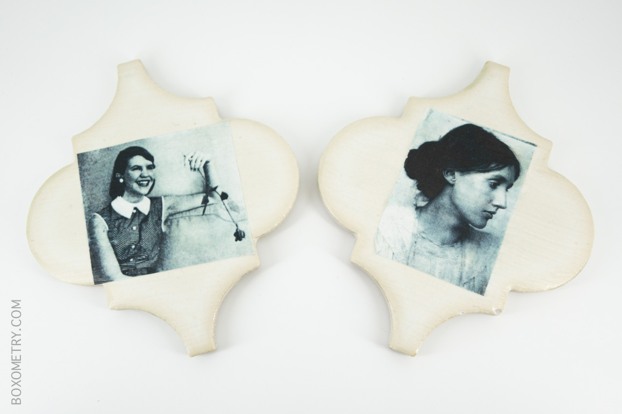 Boxometry Kairos November 2015 Review - Virginia Woolf & Sylvia Plath Coasters
