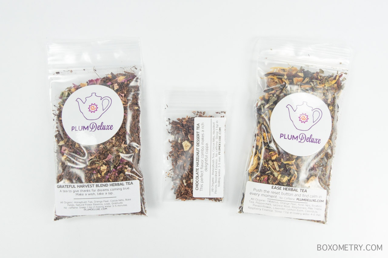 Boxometry November 2015 Plum Deluxe Tea of the Month Club Review - Teas