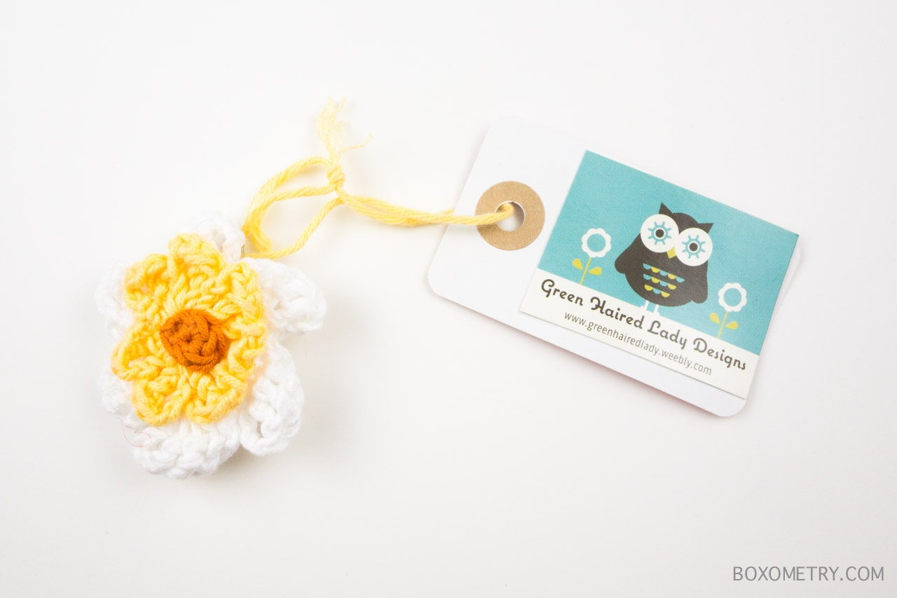 Boxometry Love The Crafty Mail July 2015 Review - Brooches (The Green Haired Lady)