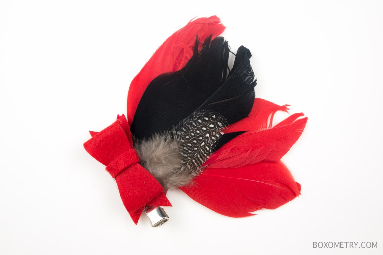 Boxometry Love The Crafty Mail July 2015 Review - Feather Hair Clip (One Innocent Feather)