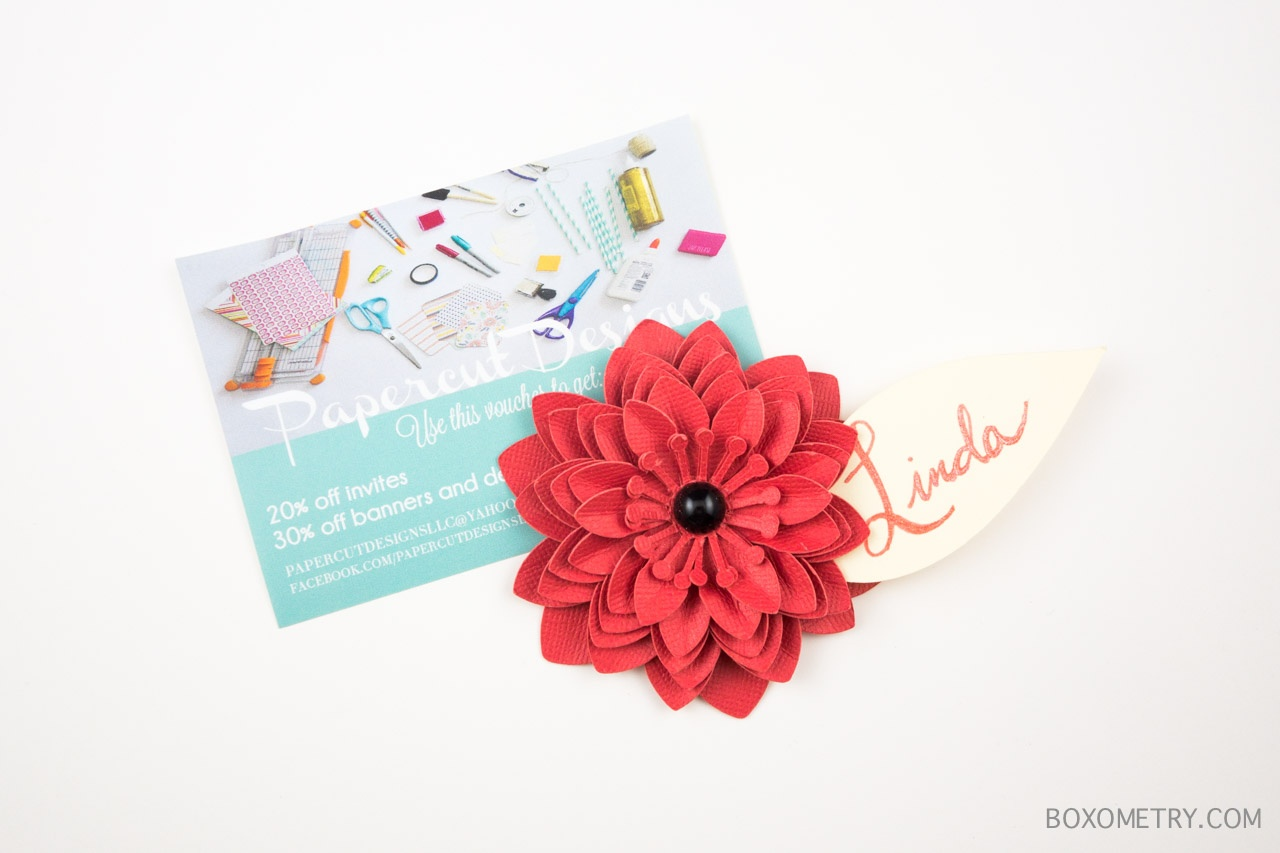 Boxometry Love The Crafty Mail July 2015 Review - Paper Flowers (Papercut Designs LLC)