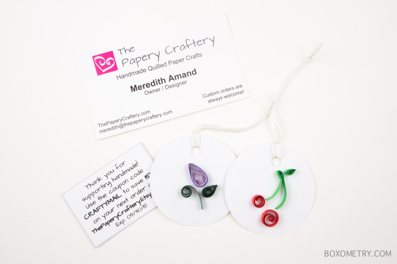 Boxometry Love The Crafty Mail July 2015 Review - Gift Tags (The Papery Craftery)