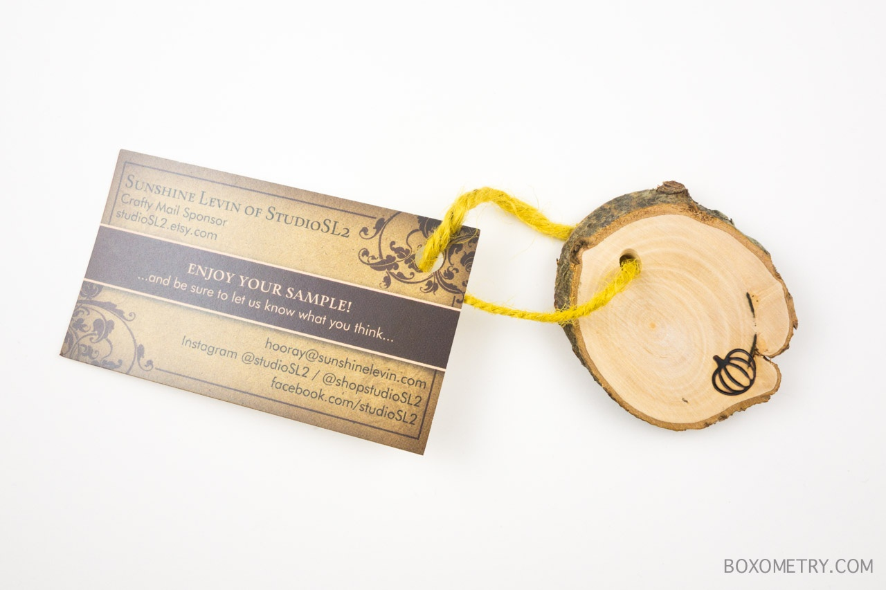 Boxometry Love The Crafty Mail July 2015 Review - Wood Slices (Studio SL2)